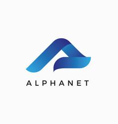 Alpha a letter logo design template vector