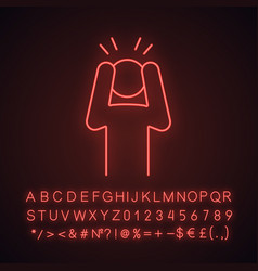 Anxiety neon light icon vector