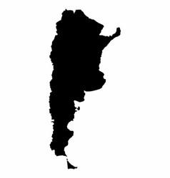 argentina map dark silhouette vector image