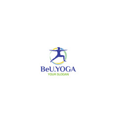 Be you yoga and gymnastic logo design vector
