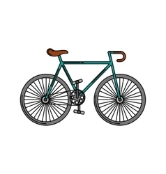 bicycle vehicle style isolated icon vector image