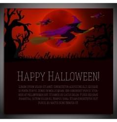 big halloween banner with witches vector image