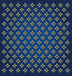 blue background and golden pattern vector image