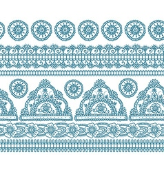 Blue indian seamless pattern vector