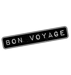 Bon Voyage rubber stamp vector image
