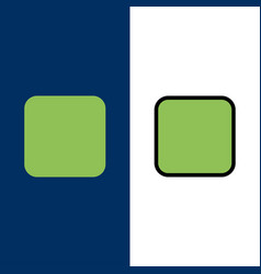 Box checkbox unchecked icons flat and line filled vector