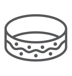 bracelet line icon jewellery and accessory vector image