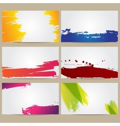 Business Cards with Blots vector