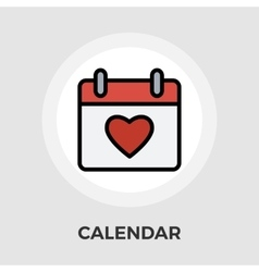 Calendar with heart vector