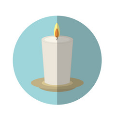 Candle spa aroma therapy vector