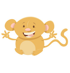 Cartoon monkey animal character vector