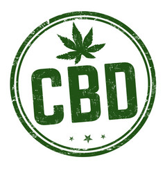 Cbd cannabidiol sign or stamp vector