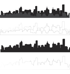 City silhouette in black and with interpretation 1 vector