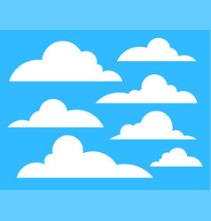 clouds icon white color isolated on blue azure vector image