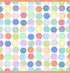 color seamless geometric pattern - simple mosaic vector image