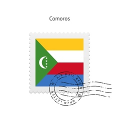 Comoros Flag Postage Stamp vector