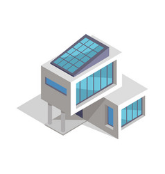 Contemporary house layout vector