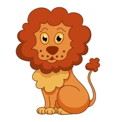Curly cartoon lion with fluffy mane vector image