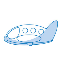 Cute airplane flying icon vector
