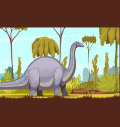 Dinosaurs horizontal vector