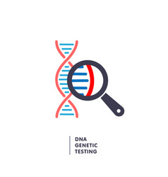 dna genetics research dna chain in magnifying vector image