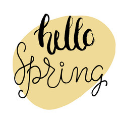Easter greeting card - hello spring vector