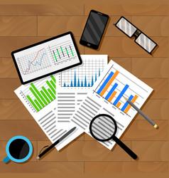 Economic analytics of infographics vector