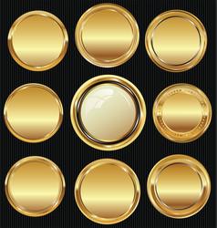 Empty luxury golden labels collection 4 vector