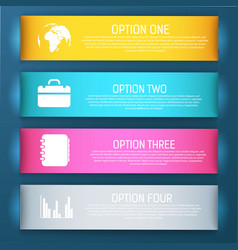 four bright banner set vector image