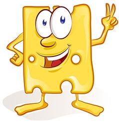 Fun cheese cartoon on white background fun cheese vector