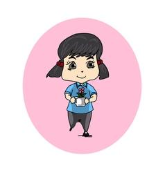 girl flower vector image