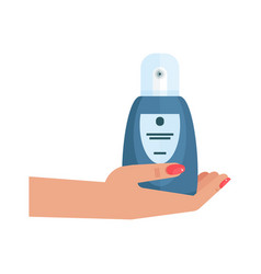 hands with moisturizing cream vector image