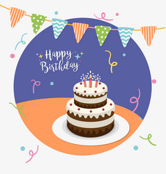 happy birthday party greeting card vector image