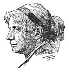 Harriet elizabeth beecher stowe vintage vector