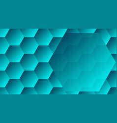 hexagons background and big hexagon with copy vector image