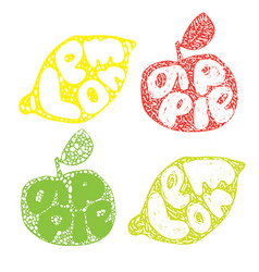 lemon typography retro silhouette great design vector image
