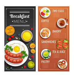 Menu design for cafe and restaurant vector