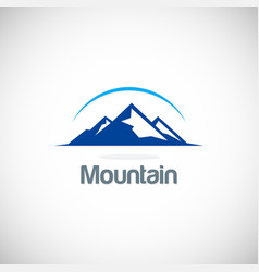 Mountain icon logo vector