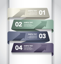 Numbered Banner Design vector image