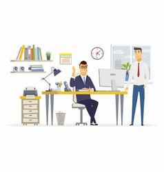 office scene - modern cartoon business vector image