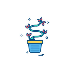 plants icon design vector image