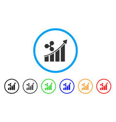 ripple trend up rounded icon vector image