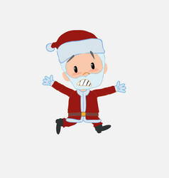 Santa claus running terrified vector