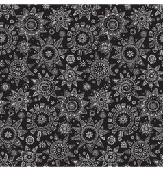 Seamless pattern with graphic doodle suns vector