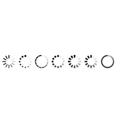 set loading icons vector image