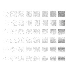 Set of 48 cross Stipple pattern for design Tile vector image