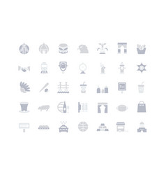 Set simple icons usa vector