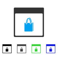 Shopping bag calendar page flat icon vector