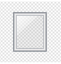 silver picture or photo frame isolated on vector image