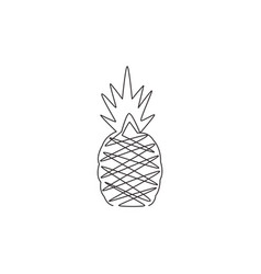 Single one line drawing healthy organic vector